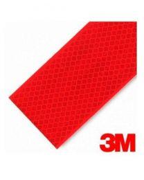 Fita Refletora V-23 Vermelha 3M Rígida