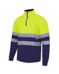 Sweatshirt bicolor com fecho-ecler de alta visibilidade
