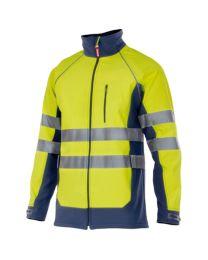 Casaco softshell bicolor de alta visibilidade