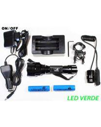 Kit Lanterna Led Verde 1300 Lumens Modo ON / OFF