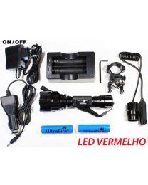 Kit Lanterna Led Vermelho 1300 Lumens Modo ON / OFF