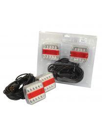 LED Conjunto de iluminação, Funções: 4, Travão / Traseirol / Pisca / Chapa de matricula, Comprimento do Cabo:7.5M, 12V