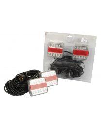 LED Conjunto de iluminação, Funções: 4, Travão / Traseirol / Pisca / Chapa de matricula, Comprimento do Cabo:12000mm