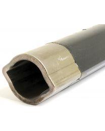revestido a Teflon PTO Tubo - Limão Perfil de tubo , Comprimento: 1M (1bGA)