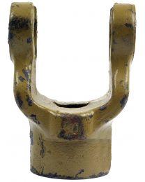Forquilha sem estrias (Dimensão da cruzeta: 27 x 74.5mm) Diametro Ø1'', Cavilha Ø: 3/8''.