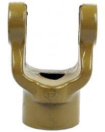 Forquilha sem estrias (Dimensão da cruzeta: 27 x 74.5mm) Diametro Ø25mm, Cavilha Ø: 8mm.