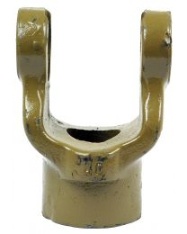 Forquilha sem estrias (Dimensão da cruzeta: 27 x 74.5mm) Diametro Ø30mm, Cavilha Ø: 10mm.