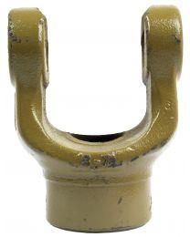 Forquilha sem estrias (Dimensão da cruzeta: 30.2 x 92mm) Diametro Ø35mm, Cavilha Ø: 13mm.