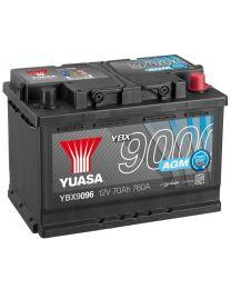 Bateria Yuasa YBX9096 12V 70Ah 760A +D 278x175x190