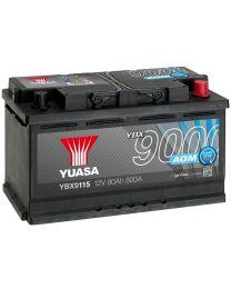 Bateria Yuasa YBX9115 12V 80Ah 800A +D 317x175x190