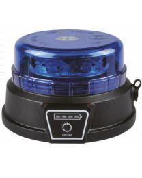 Pirilampo Rotativo LED R65 18W AZUL a Bateria