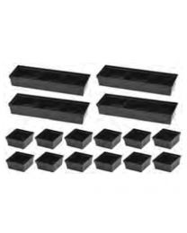 Conjunto de caixas plásticas (16pcs) Jonnesway C-A2501S