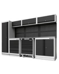 Armário oficinal 4 modulos c/tampo Inox Jonnesway C-SA4S