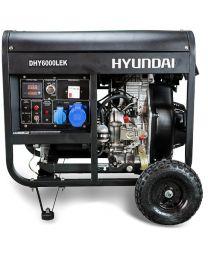 Gerador Diesel Monofásico 5kW Hyundai DHY6000LEK