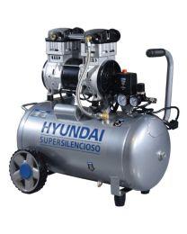 Compressor Silencioso Isento De Óleo 50L Hyundai HYAC50-2S