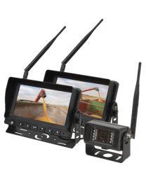 Sistema de câmara wireless 2 monitores 7'' e 1 câmara