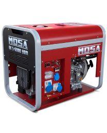 Gerador diesel monofásico MOSA GE-S-6000 YDM motor YANMAR LN 100 AE (Arranque elétrico)