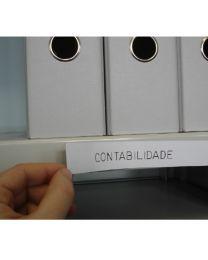 Etiqueta PVC magnético 150x25x0,5 mm (10 un.)